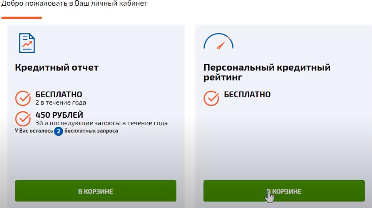 персональный кредитный рейтинг проверить в корзине онлайн и бесплатно