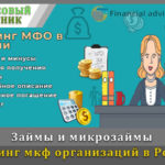 Рейтинг мкф организаций в России на 2021 год